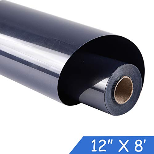 guangyintong Adhesive Heat Transfer Vinyl for T-Shirts 12 x 8ft Roll Glossy (k19 Navy Blue)