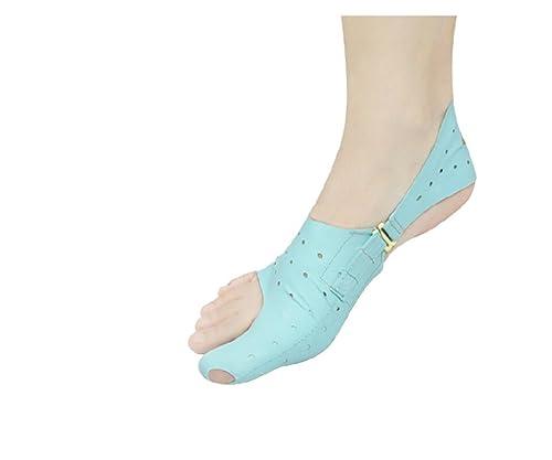 Footful 1 Par Corrector de Juanetes Separador de Dedos Gordo PU Tejido Elástico S: Amazon.es: Zapatos y complementos
