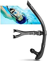Swim Snorkel for Lap Swimming,Adult Swimmers Snorkeling Gear for Swimming Snorkel Training in Pool and Open Wa