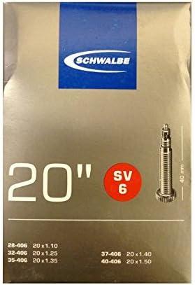 Schwalbe SV6 Inner Tube 20 x 1 1//8-40mm Presta Valve