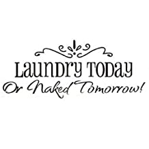 Salesland Removable Laundry Room Quote Decal Art Vinyl Wall Sticker Paper Lettering Black