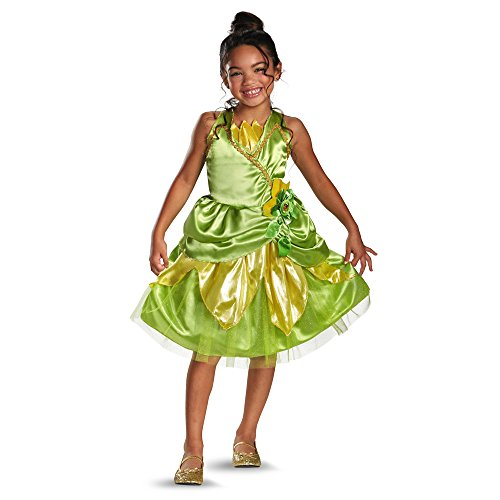 Disguise Disney's Princess and The Frog Tiana Sparkle Classic Girls Costume, 3T-4T - Princess And Frog Halloween Costume