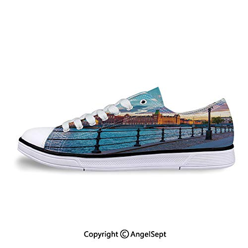 Low Top Canvas Shoes Town Sweden by Lake Gamla Lace Up Sneakers