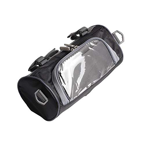 CFF Motorcycle Bicycle Handlebar Bag Portable Storage W/Transparent Pouch Compatible with Apple Phone 6,6s,7,8,8p,X,and Samsung 8, 9