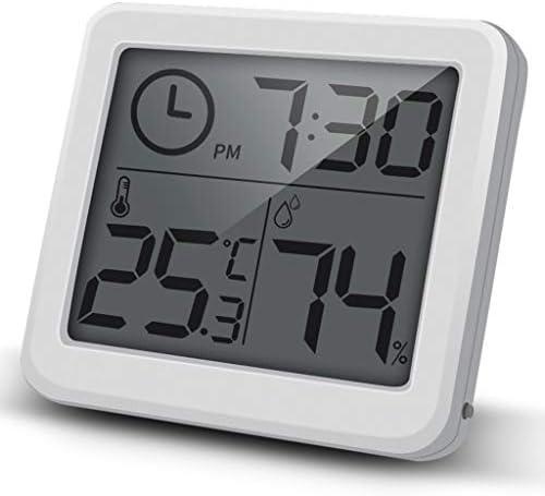 CHenXy 電子サーモ湿度計、室内高精度ホーム多機能ベビールームホワイトオフィス 湿度計温度計 (Color : A)