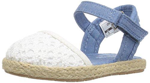 h Girl's Espadrille Sandal, Cream, 9 M US Toddler ()
