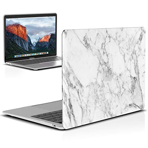 - IBENZER MacBook Air 13 Inch Case 2018 Release New Version A1932, Soft Touch Hard Case Shell Cover for Apple MacBook Air 13 Retina with Touch ID, White Marble, MAD-T13WHMB