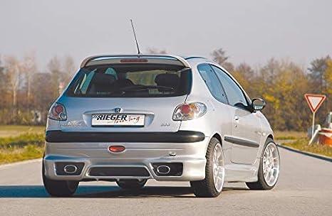 Rieger Potenciador de Lado Negro Mate para Peugeot 206: 09.98 - 05.06: Amazon.es: Coche y moto