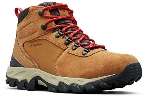 Columbia Men's Newton Ridge Plus II Suede Waterproof Boot Hiking, Elk, Mountain Red, 11 Regular US
