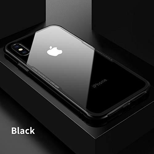 ANNELE Carcasa de Vidrio para iPhone XS XS MAX XR, de, 1 Unidad, For iPhone X, Negro