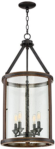 Cheap Gorham 16″ Wide Wood and Metal 4-Light Pendant Light