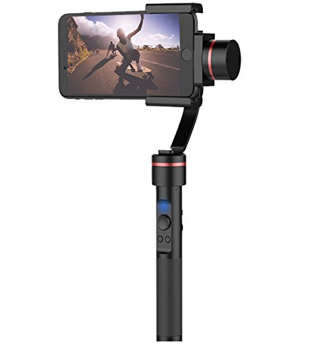 "Powerbeast 3 Axis Brushless Handheld Gimbal Stabilizer for iPhone or Smart Phone Up to 6"" Shoot Photo /Video via Bluetooth,Action Video Stabilizer Support Roll Yaw Pitch and Connect Tripod by Powerbeast"