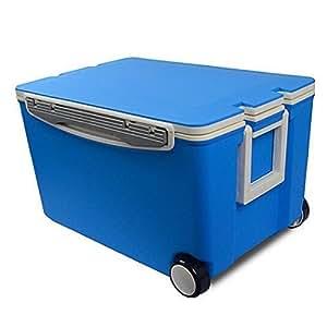Con ruedas, 40Quart 2ruedas hielo en el pecho caja coche/Marine refrigerador