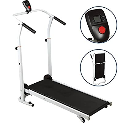 IdealchoicePorduct Folding Manual Running Treadmill Incline Home GYM Maching Cardio Stride Fitness Walking Workouts