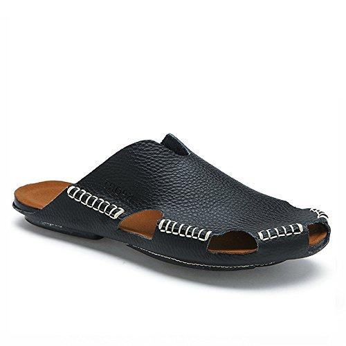 in da Pantofole da pelle Sandali cm vacchetta Pantofole Melodycp uomo da Pantofole spiaggia uomo estivi in uomoCasual 24 di Nero pelle da 27 5A0wRwx