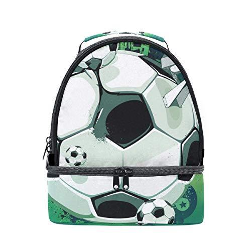 à pour bandoulière l'école Tote Boîte Cooler Soccer Design Sac avec à Pincnic Alinlo lunch isotherme réglable 7EHwfxq