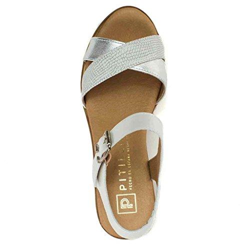 Sandalia Pitillos 5154 Mujer Sandalia Plata Mujer Plata Sandalia 5154 Pitillos Pitillos Mujer 6S0xdg6