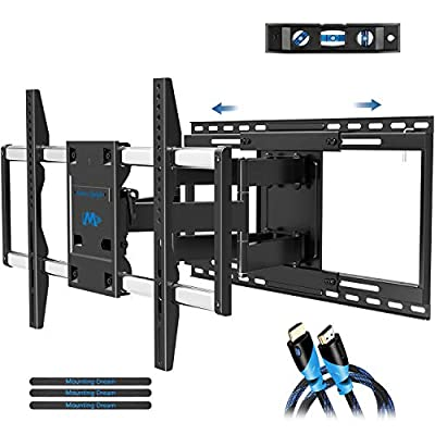 """Mounting Dream TV Mount Full Motion with Sliding Design for TV Centering, Articulating TV Wall Mounts TV Bracket for 42-70 Inch TVs - Easy to Install on 16"""", 18"""" or 24"""" Studs - 19"""" Extension, MD2198"""
