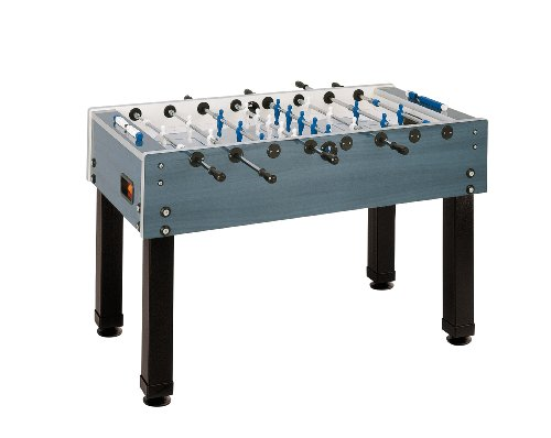 Garlando Foosball Table - Garlando G-500 Weather Proof Foosball Table, Dark Blue