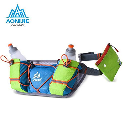Moonnight Store AONIJIE Trail Running Marathon Hydration Belts Running Bag Lightweight Waist Packs Outdoor Close-Fitting Pocket Big Capacity (Black only bag) by Moonnight Store