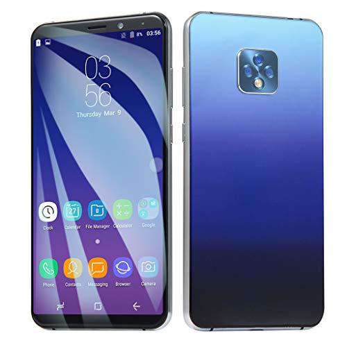 Ultrathin Smartphone,Face Unlocked 6.1 Inch HD Full Screen 8.0MP Camera Android 6.0 Quad-Core 1GB+8GB+Extra 16GB Card GSM/WCDMA WiFi Dual SIM Smart Cellphone (Blue, ()