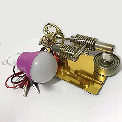 Yamix Mini Stirling Engine Stirling Motor Model with Bulb Science Toy: Toys & Games