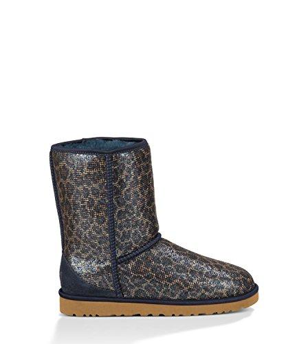 UGG Women's 1006883 Classic Short Glitter Boot, Navy, 11 ()