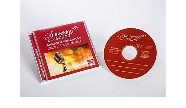 CD-Rohlinge 24k Gold 25-Pack mit Case+Tray: CD-Rohlinge 24k Gold 25-Pack mit CaseTray: Amazon.es: Música