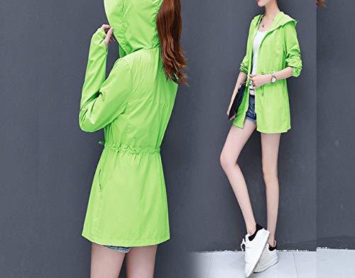 Lunga Manica Solare Outdoor Windbreaker Prodotto Protezione Donna Abbigliamento Outwear Cappotto Moda Grün Fit Incappucciato Eleganti Casual Giacche Plus Slim Traspirante Giacca cTzSCvqww