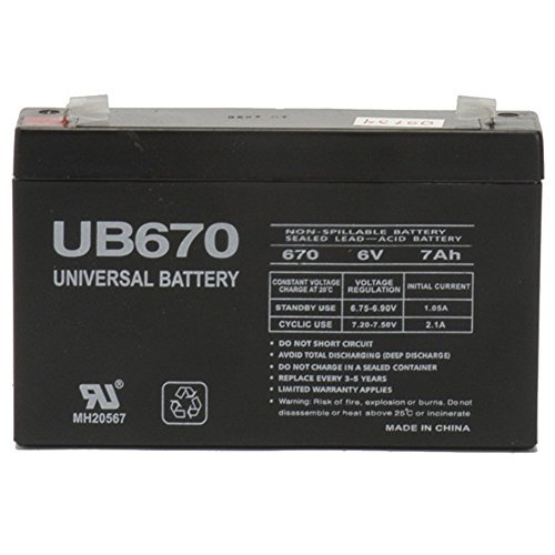 6V 7AH SLA Battery Replacement for Aria Child PowerSport ATV- (Replacement Powersports Batteries)