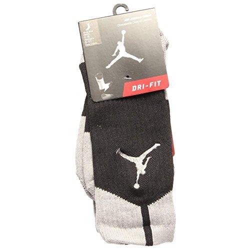 Nike 530977 Air Jordan Crew Socks Blk/Silver M