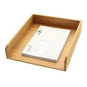 Bandejas Para Cartas y Documentos Bambú Tamaño A4 (Organizadores y Dispensadores de Escritorio de Madera)