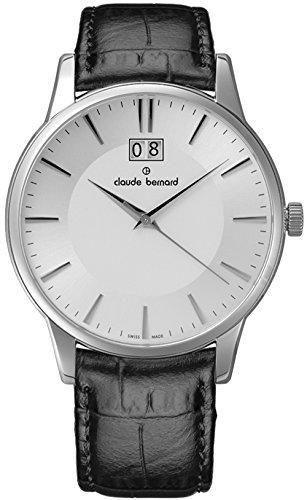 Claude Bernard Men's 63003 3 AIN Classic Gents Analog Display Swiss Quartz Black Watch