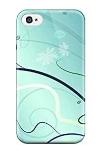 Alan T. Nohara's Shop Best 5852634K33257585 Iphone 4/4s Green Ice Vector Tpu Silicone Gel Case Cover. Fits Iphone 4/4s