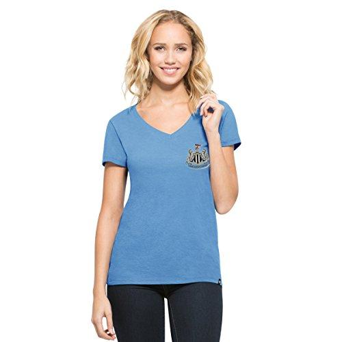 '47 EPL Newcastle United FC Women's Clutch MVP V-Neck Tee, Blue Raz, Large (T-shirt Classic United)