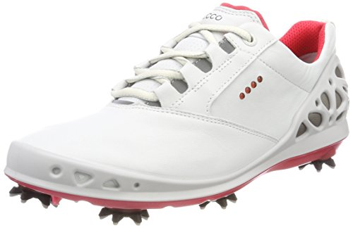 ECCO Womens Cage GTX, Zapatos de Golf Para Mujer Blanco (Blanco 58365)