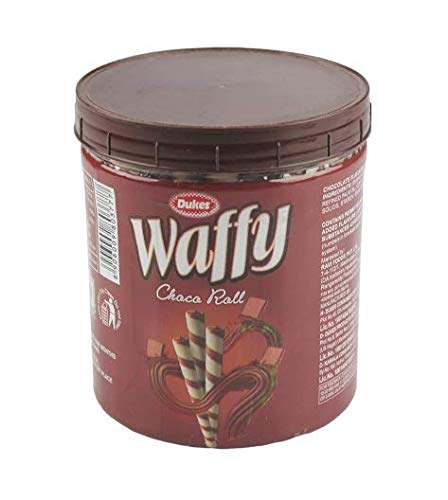 Dukes Waffy Rolls Jar - Chocolate, 250 g