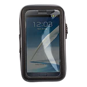 DURAGADGET Water-Resistant Clear Front Touch Capacitive Bike Case with Dual Zips for Samsung Galaxy Note SGH-i717, Samsung Galaxy Note 2 16GB Sim Free Smartphone, Samsung Galaxy Note 3