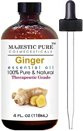 Ginger Root Essential Oil From Majestic Pure, Therapeutic Grade, Pure and Natural, 4 fl. oz.
