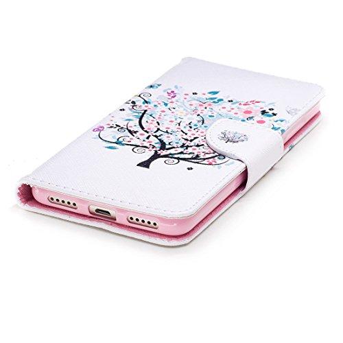 conception Flip 5 en pour Hozor étui cas fente tree Xiaomi portefeuille avec carte Flower avec peint aérosol magnétique cuir Redmi de PU d'impression support fermeture en protection wEOYIOq