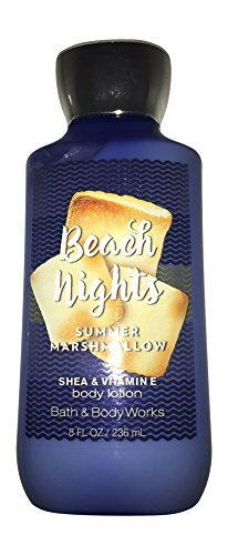 Bath & Body Works Beach Nights Summer Marshmallow Body Lotion, 8 Ounce (Best Body Lotion For Summer)