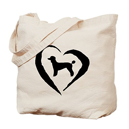 CafePress - Poodle Heart - Natural Canvas Tote Bag, Cloth Shopping Bag (Bag Pets Silhouette Tote)