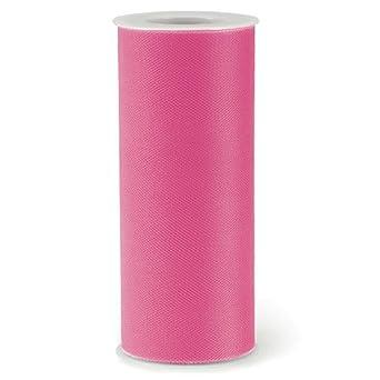 Amazon.com: 10 Rollo de tela de tul, color rosa 6