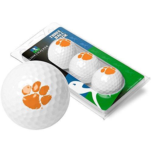 Tigers Logo Golf Balls (NCAA Clemson Tigers - 3 Golf Ball Sleeve)