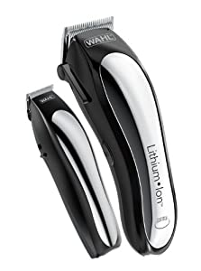 Wahl Clipper Lithium Ion Cordless Rechargeable Hair Clippers and Trimmers for men,Hair Cutting Kit with 10 Guide Combs by The Brand used by Professionals. #79600-2101