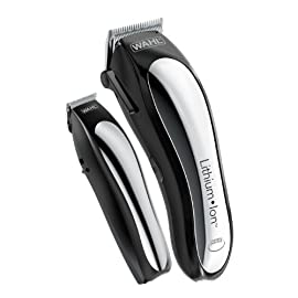 Wahl Lithium Ion Cordless Rechargeable Hair Clippers and Trimmers for men,Hair Cutting Kit with 10 Guide Combs by The Brand used by Professionals.   #79600-2101 - 41b9rDMqfjL - Wahl Clipper Lithium Ion Cordless Haircutting & Trimming Combo Kit – Rechargeable Electric Razor for Grooming Heads, Beards & All Body Grooming – Model 79600-2101