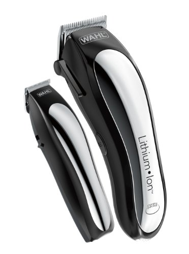 Wahl Lithium Ion Cordless Rechargeable Hair Clippers and Trimmers for men,Hair Cutting Kit with 10 Guide Combs by The Brand used by Professionals.   #79600-2101