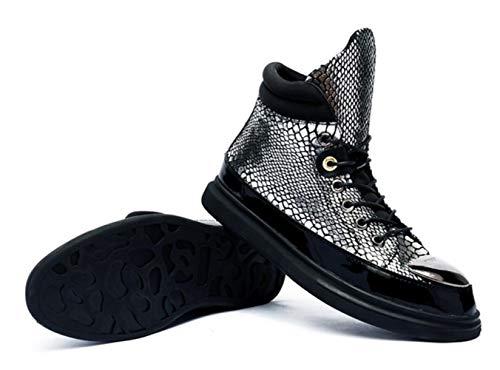 Serpent Skateboard La De Modèle Silver Décontractées Main Sequin Confortables Chaussures Chaussures en Nouvelles Cuir Shiney à Sport Haut n0zEw6fxHq