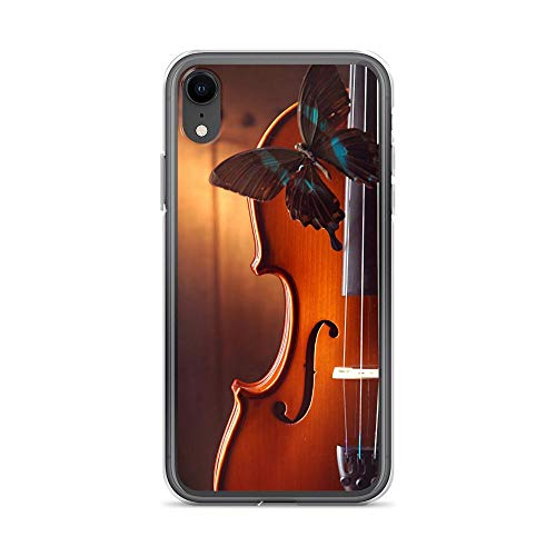 Compatible for iPhone XR Cases Beautiful Butterfly Lover Vintage Viola Lover Musician Anti Bumps Scratches