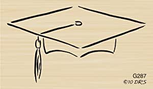 Brush Mortarboard Rubber Stamp By DRS Designs